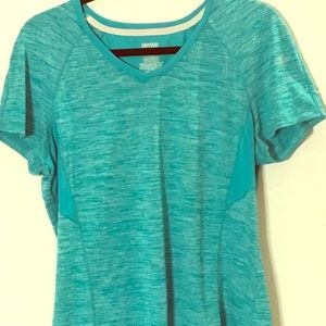 Danskin Now teal work out shirt